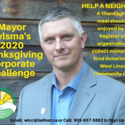 Mayor Bylsma 2020 Thanksgiving Challenge – Sign up your organization today!