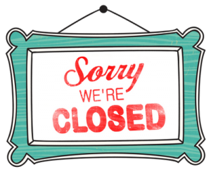 THRIFT STORE CLOSED – No household donations please