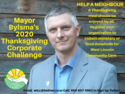 Mayor Bylsma 2020 Thanksgiving Challenge - Sign up your organization today!